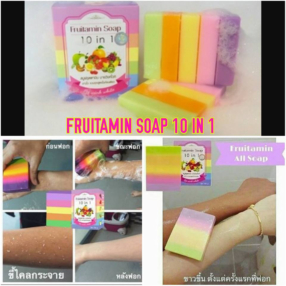 Fruitamin Soap By Wink White Sabun Pemutih Badan Syb Bibit Bpom Original